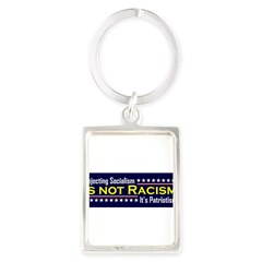 Rejecting Socialism Portrait Keychain
