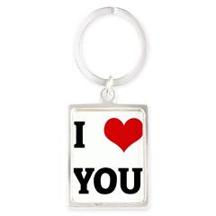 I Love YOU Portrait Keychain