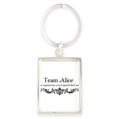 Team Alice Theft Portrait Keychain