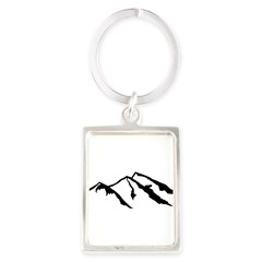 Mountains Portrait Keychain