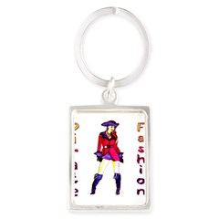 Pirate Fashion Portrait Keychain