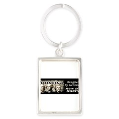 Designed by Geniuses Portrait Keychain