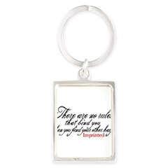 No rules bind Imprinted Portrait Keychain