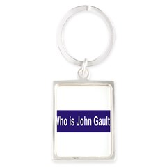 Who is John Gault? Portrait Keychain