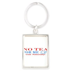 NO TEA FOR ME Portrait Keychain