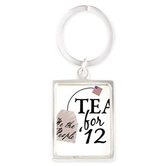 Vote Tea Party 2012 Portrait Keychain