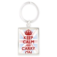 Keep Calm and Carry On Portrait Keychain