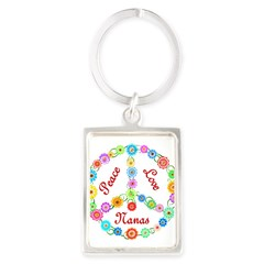 Peace Love Nanas Portrait Keychain