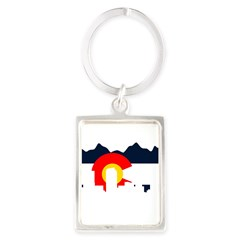 Colorado Rockies Flag Portrait Keychain