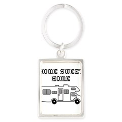 Home Sweet Home Mini Motorhome Portrait Keychain