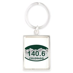 140.6 Colo License Plate Portrait Keychain