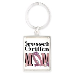 Brussels Griffon MOM Portrait Keychain