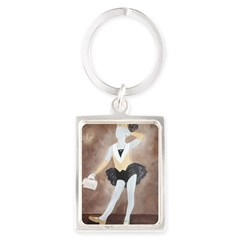 Hot Chocolate Aluminum Keychain (Rectangle Portrait Keychain