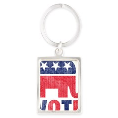 Republican Vote 2 Portrait Keychain