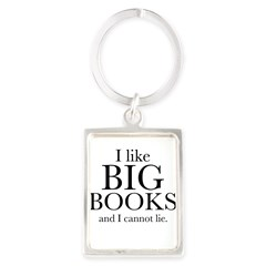I LIke Big Books Portrait Keychain
