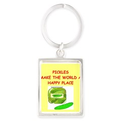 pickles Portrait Keychain