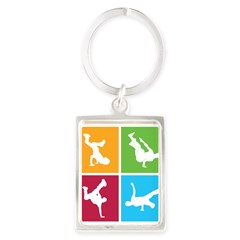 Nice various breakdancing Portrait Keychain