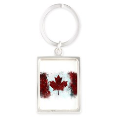 Canadian Graffiti Portrait Keychain
