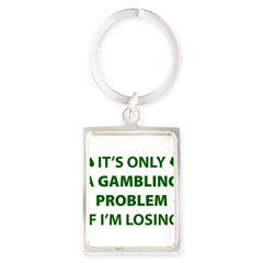 Gambling Problem Portrait Keychain