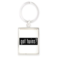 got twins? Portrait Keychain