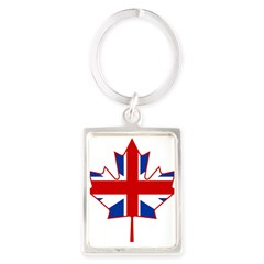 UK Maple Portrait Keychain