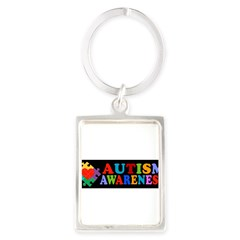 Autism Awareness Portrait Keychain