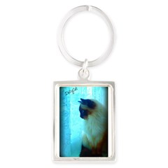 DollyCat Atmosphere - Ragdoll Cat - Portrait Keychain