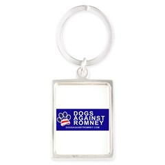 Official Dogs Against Romney Paw Portrait Keychain