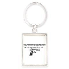 The Second Amendment Portrait Keychain