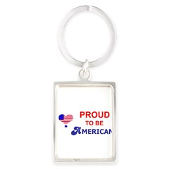 PROUD TO BE AMERICAN Portrait Keychain