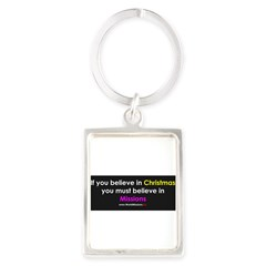 Christmas & Mission Portrait Keychain