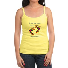 Footprints on your heart Jr. Spaghetti Tank