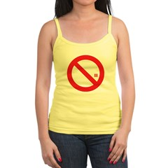 Classic No Smoking Jr. Spaghetti Tank