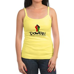 Women's Plus Size V-Neck Dark Black Power Shirt Jr. Spaghetti Tank