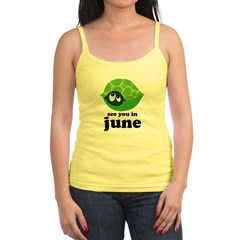June Baby Due Date Jr. Spaghetti Tank