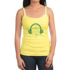 Blue Headphones Maternity Tee (Dark) Jr. Spaghetti Tank