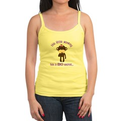 big sister pink brown flower Jr. Spaghetti Tank