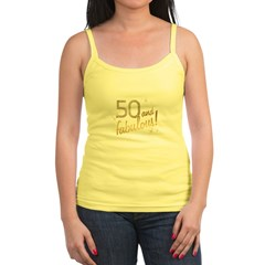 50 and Fabulous Gold and Glitter Jr. Spaghetti Tank