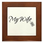 My Wife Tag -- Priceless Framed Tile