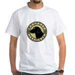 Black Lab Crest - White T-Shirt