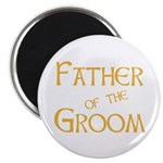 "Sherbet Father of the Groom 2.25"" Magnet (10 pack)"