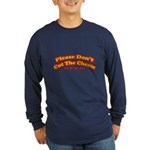 Cut the Cheese Long Sleeve Dark T-Shirt