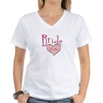 Bride in Love Women's V-Neck T-Shirt