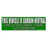 Carbon Neutral Vehicle Bumper Sticker