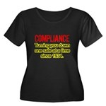 Compliance Turn Down Women's Plus Size Scoop Neck