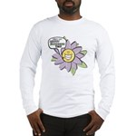 Happy Mother's Day Purple Flower Long Sleeve T-Shi