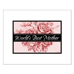 Pink Toile World's Best Mother Mom Small Poster