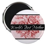 Pink Toile World's Best Mother Mom Magnet