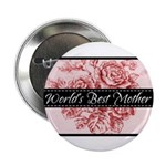 Pink Toile World's Best Mother Mom Button