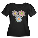 Pretty Mother's Day Cartoon Flowers Women's Plus S